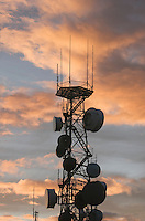 Microwave tower on summit of Steptoe Butte in the Palouse Washington