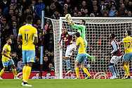Julian Speroni of Crystal Palace takes a cross in the air during the Barclays Premier League match at Villa Park, Birmingham<br /> Picture by Andy Kearns/Focus Images Ltd 0781 864 4264<br /> 01/01/2015