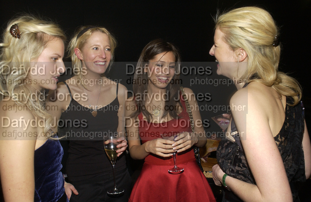 Olympia Scarry, Lady Sophia Hesketh, Dasha Zhukova and Fiona Scarry, Lanvin party, Harvey Nicholls,1 February 2006.  -DO NOT ARCHIVE-© Copyright Photograph by Dafydd Jones 66 Stockwell Park Rd. London SW9 0DA Tel 020 7733 0108 www.dafjones.com
