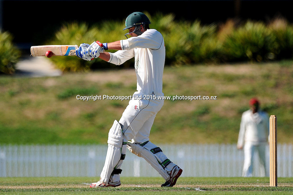 Central player Tom Bruce during their Plunket Shield match Central Stags v Canterbury at Saxton Oval, Nelson, New Zealand. Thursday 19 March 2015. Copyright Photo: Chris Symes / www.photosport.co.nz