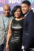 New York, NY- FEBRUARY 29:  l to r: BET President of Music, Programming, & Specials Stephen Hill, BET VP of Special Projects, BET Networks Lynne Harris Taylor  and Actor Pooch Hall at the BET Rip The Run Way held at the Hammerstein Ballroom on February 29, 2012 in New York City. Photo Credit: Terrence Jennings