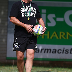 DURBAN, SOUTH AFRICA, 25 January 2016 -  Gary Gold (Sharks Director of Rugby) during The Cell C Sharks Pre Season training for the 2016 Super Rugby Season at Growthpoint Kings Park in Durban, South Africa. (Photo by Steve Haag)<br /> images for social media must have consent from Steve Haag