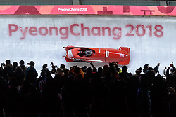 19.02.2018, Olympic Sliding Centre, Pyeongchang, KOR, PyeongChang 2018, Bob, Zweisitzer, Herren, im Bild Markus Treichl, Kilian Walch (AUT) // Markus Treichl Kilian Walch of Austria during the mens doubles Bobsleigh of the Pyeongchang 2018 Winter Olympic Games at the Olympic Sliding Centre in Pyeongchang, South Korea on 2018/02/19. EXPA Pictures © 2018, PhotoCredit: EXPA/ Johann Groder