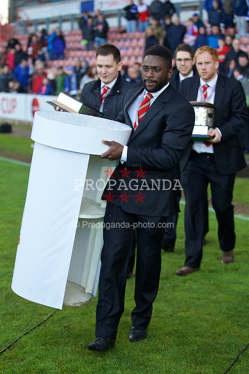 WREXHAM, WALES - Monday, May 2, 2016: FAW's Kayne McLaggon during the 129th Welsh Cup Final at the Racecourse Ground. (Pic by David Rawcliffe/Propaganda)