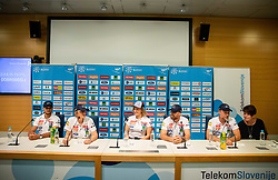 David Kukovec, Darja Crnko, Ilka Stuhec, Jani Gril and Stefan Abplanalp during press conference of new alpine ski team of Ilka Stuhec before new season 2019/20, on June 10, 2019 in Telekom Slovenije, Ljubljana, Slovenia. Photo by Vid Ponikvar / Sportida