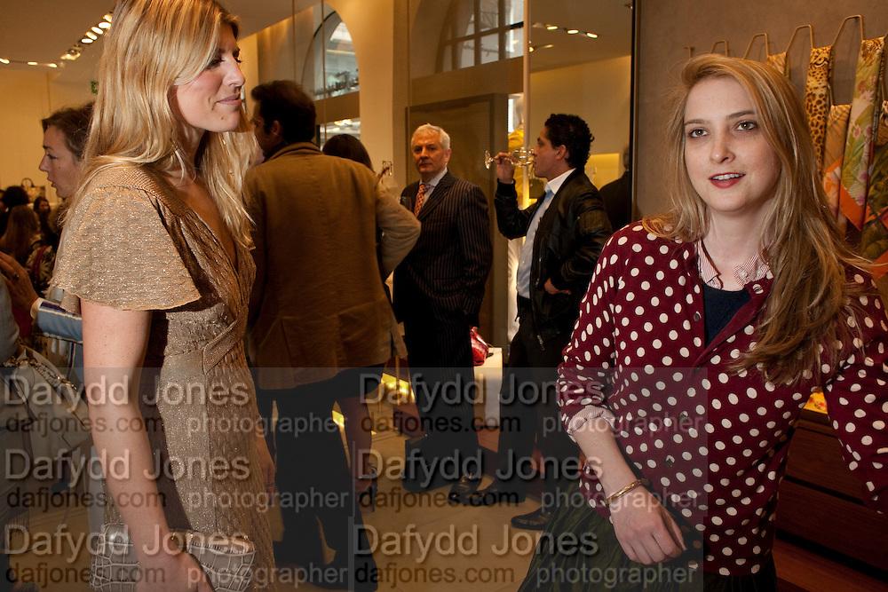 Leonardo Ferragamo;  Daisy de Villeneuve; . BOOK PARTY FOR A BOOK BY DONNA FRANCESCA CENTURIONE SCOTTO AT Salvatore Ferragamo, 24 Old Bond Street, London W1. 14 May 2009