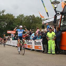 06-09-2015: Wielrennen: Ladiestour: Valkenburg<br /> VALKENBURG (NED) wielrennen<br /> De slotetappe van de Boels Ladies Tour startte traditioneel in Bunde en voerde het peloton door het Limburgse Heuvelland met finish op de top van de CaubergThalita de Jong wint de slotetappe van de Ladiestour voor Elisa Longo Borghini en Lisa Brennauer