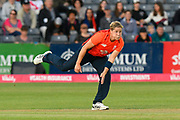 Katherine Brunt of England bowling during the 3rd Vitality International T20 match between England Women Cricket and Australia Women at the Bristol County Ground, Bristol, United Kingdom on 31 July 2019.