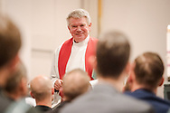 Concordia Seminary President Rev. Dr. Dale Meyer addresses candidates during the Service of Praise with Assignment of Calls on Wednesday, May 1, 2019, at the Chapel of St. Timothy and St. Titus at Concordia Seminary, St. Louis. LCMS Communications/Erik M. Lunsford