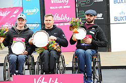 March 10, 2019 - London, United Kingdom - David Weir, Simon Lawson and John Boy Smith are seen posing with their awards after running The Vitality Big Half, which has returned for a festival of running and culture to the heart of London in a celebration of the rich and wonderful diversity of the capital city and Finishing it at Cutty Sark. (Credit Image: © Terry Scott/SOPA Images via ZUMA Wire)