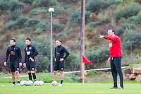 ESTEPONA - 04-01-2016, AZ in Spanje 4 januari, Leeroy Echteld, AZ speler Celso Ortiz, AZ speler Thom Haye, AZ speler Ben Rienstra