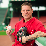 BOSTON, MA - MAY 20: Jake Peavy #40 of the Boston Red Sox poses for a portrait at Fenway Park on May 20, 2014 in Boston, Massachusetts.  (Photo by Michael Ivins/Boston Red Sox/Getty Images) *** Local Caption ***Jake Peavy