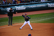 The Seattle Mariners defeated the Cleveland Indians 7-2 on April 29, 2008 at Progressive Field in Cleveland..Third baseman Andy Marte of Cleveland.