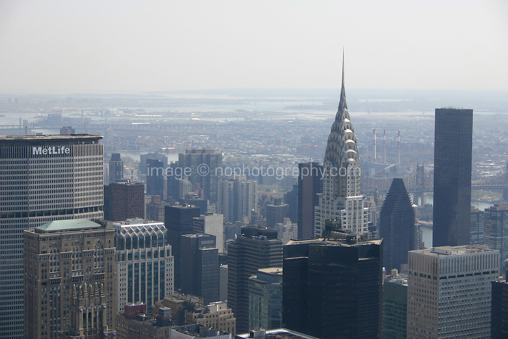 View from the Empire State Building of Chrysler Building New York<br />