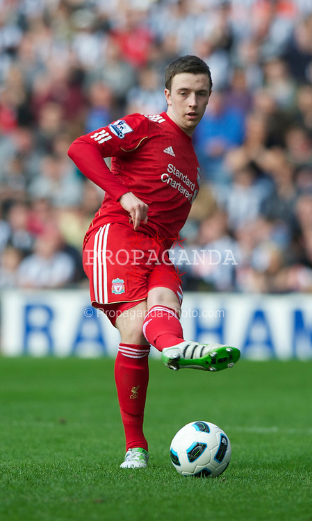 WEST BROMWICH, ENGLAND - Saturday, April 2, 2011:  Liverpool's Danny Wilson in action against West Bromwich Albion during the Premiership match at The Hawthorns. (Photo by Dave Kendall/Propaganda)