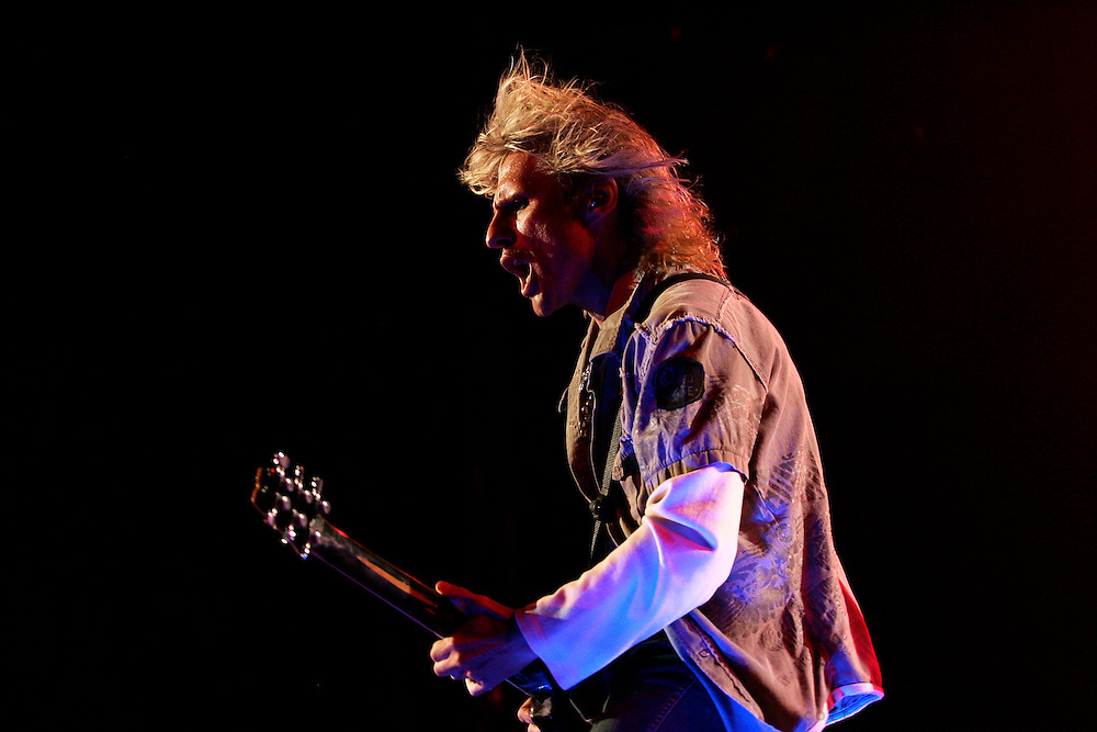 SCOTT MORGAN | ROCKFORD REGISTER STAR.Lead guitarist C.C. DeVille performs with Poison Saturday, July 19, 2008, at the MetroCentre in Rockford.
