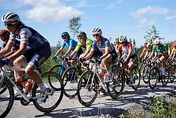 Ruth Winder (USA) crosses the gravel sector during Ladies Tour of Norway 2019 - Stage 4, a 154 km road race from Svinesund to Halden, Norway on August 25, 2019. Photo by Sean Robinson/velofocus.com