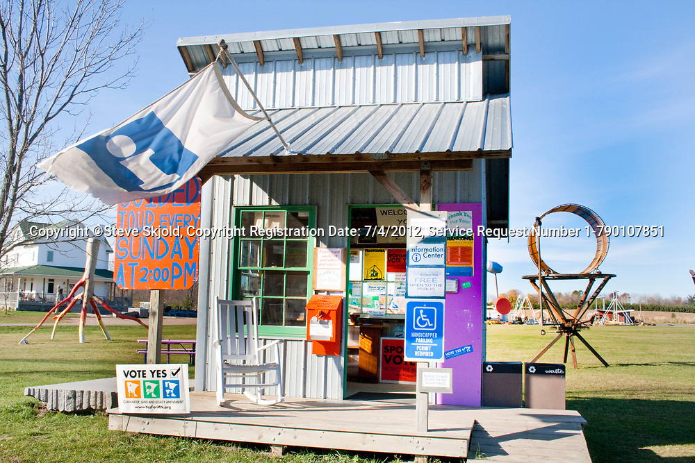 Quirky tiny outdoor front office. Franconia Sculpture Park Franconia Minnesota MN USA