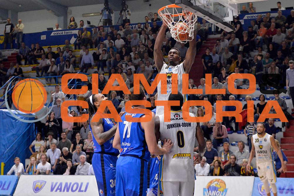 Paul Stephan Biligha<br /> Vanoli Cremona - Germani Basket Brescia Leonessa<br /> Lega Basket Serie A 2016/2017<br /> Cremona, 09/04/2017<br /> Foto M.Ceretti / Ciamillo - Castoria