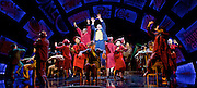 Guys and Dolls<br /> by Damon Runyon / Frank Loesser<br /> at The Savoy Theatre, London, Great Britain <br /> press photocall<br /> 4th January 2016 <br /> Lorna Gayle as General Cartwright and <br /> Gavin Spokes as Nicely Nicely Johnson with <br /> ensemble<br /> <br /> <br /> Photograph by Elliott Franks <br /> Image licensed to Elliott Franks Photography Services