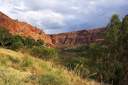 Storms build near Lake Argyle below the dam wall.  Lake Argyle is Australia's second largest dam.  The dam was officially opened in 1972.