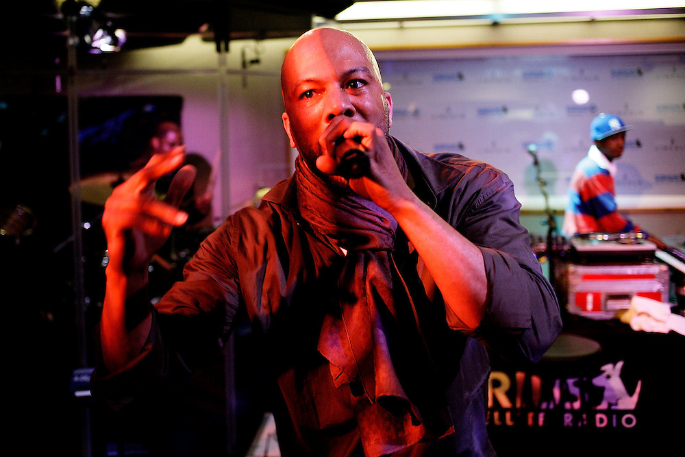 NEW YORK - MARCH 18:  Grammy Winning Hip-Hop Star Common performs live at a Sirius Satellite Radio event to Kick-Off The New York International Auto Show on March 18, 2008 in New York City.  (Photo by Joe Kohen/WireImage)