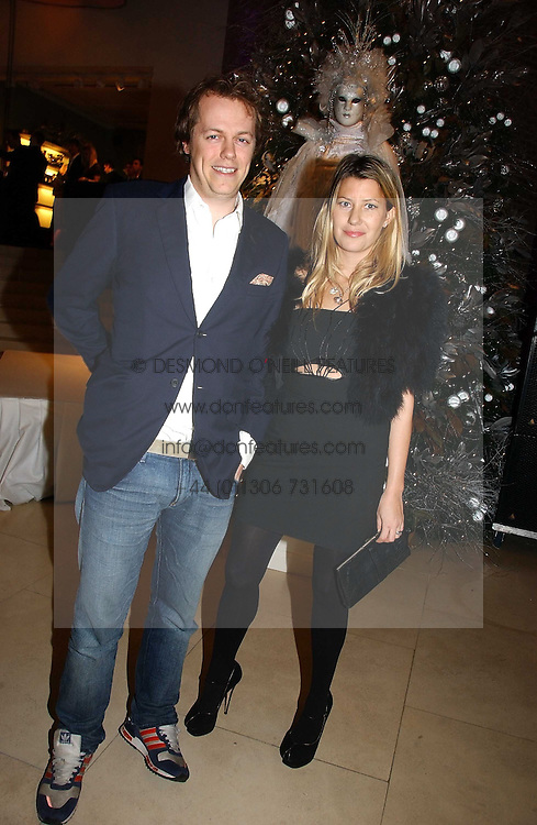 TOM & SARA PARKER BOWLES at a Christmas party to celebrate the 225th Anniversary of Asprey held at their store 167 New Bond Street, London on 7th December 2006.<br />