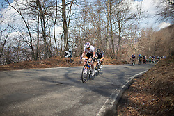 Anna van der Breggen (Rabo-Liv Cycling Team) sets the pace in the first half of the Trofeo Alfredo Binda - a 123.3km road race from Gavirate to Cittiglio on March 20, 2016 in Varese, Italy.
