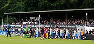 FODBOLD: Spillerne går på banen til kampen i ALKA Superligaen mellem FC Helsingør og Randers FC den 26. august 2017 på Helsingør Stadion. Foto: Claus Birch