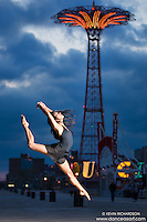 Coney Island Boardwalk, Brooklyn New York. Dance As Art featuring Sylvana Tapia.