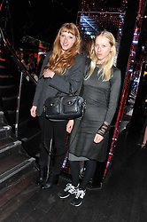 Left to right sisters MOLLY GODDARD and ALICE GODDARD at a party to celebrate the launch of the Marie Claire Runway Magazine held at Le Baron a The Embassy, Old Burlington Street, London on 1st February 2012.