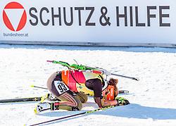 15.02.2017, Biathlonarena, Hochfilzen, AUT, IBU Weltmeisterschaften Biathlon, Hochfilzen 2017, Einzel Damen, im Bild Siegerin und dreifach Weltmeisterin Laura Dahlmeier (GER) // Winner and 3rd time World Champion Laura Dahlmeier of Germany during individual women the IBU Biathlon World Championships at the Biathlonarena in Hochfilzen, Austria on 2017/02/15. EXPA Pictures © 2017, PhotoCredit: EXPA/ JFK