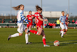 Megan Alexander of Bristol City Women in action - Mandatory byline: Rogan Thomson/JMP - 14/02/2016 - FOOTBALL - Stoke Gifford Stadium - Bristol, England - Bristol City Women v Queens Park Rangers Ladies - SSE Women's FA Cup Third Round Proper.