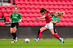 Carla Humphrey of Bristol City is challenged by Amanda Nielden of Brighton and Hove Albion Women - Mandatory by-line: Ryan Hiscott/JMP - 07/09/2019 - FOOTBALL - Ashton Gate - Bristol, England - Bristol City Women v Brighton and Hove Albion Women - FA Women's Super League