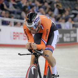 07-12-2014: Wielrennen: WB baan: Londen<br /> Omnium Tim Veldt wordt vierde op het onderdeel kilomter