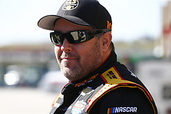 March 3, 2017 - Hampton, Georgia, United States of America - March 03, 2017 - Hampton, Georgia, USA: Brendan Gaughan (62) hangs out in the garage prior to practice for the Rinnai 250 at Atlanta Motor Speedway in Hampton, Georgia. (Credit Image: © Justin R. Noe Asp Inc/ASP via ZUMA Wire)