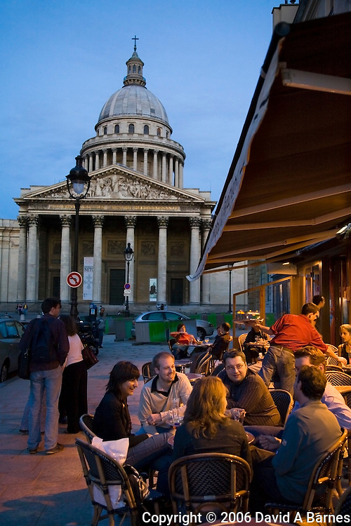 Pantheon, cafe, Latin Quarter, left bank, Paris, France.NR