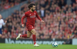 LIVERPOOL, ENGLAND - Sunday, March 31, 2019: Liverpool's Mohamed Salah during the FA Premier League match between Liverpool FC and Tottenham Hotspur FC at Anfield. (Pic by David Rawcliffe/Propaganda)