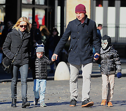 Naomi Watts and Liev Schreiber are seen enjoying a sunny Saturday out with their two son's Alexander and Samuel for a bicycle ride around SoHo, New York City, NY, USA on October 26, 2013. Photo by Morgan Dessalles/ABACAPRESS.COM  | 419925_013 New York City Etats-Unis United States