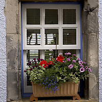 Old cottage window, Culross, West Fife, Scotland<br />