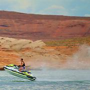 Jet Ski fun on Lake Powell in the Glen Canyon National Recreation Area
