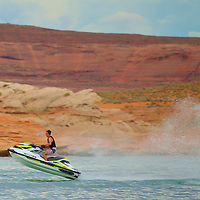 Jet Ski fun on Lake Powell in the Glen Canyon National Recreation Area
