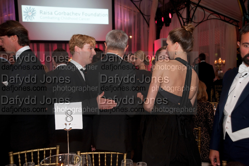 BENEDICT CUMBERBATCH; MARGOT STILLEY, Evgeny Lebedev and Graydon Carter hosted the Raisa Gorbachev charity Foundation Gala, Stud House, Hampton Court, London. 22 September 2011. <br /> <br />  , -DO NOT ARCHIVE-© Copyright Photograph by Dafydd Jones. 248 Clapham Rd. London SW9 0PZ. Tel 0207 820 0771. www.dafjones.com.