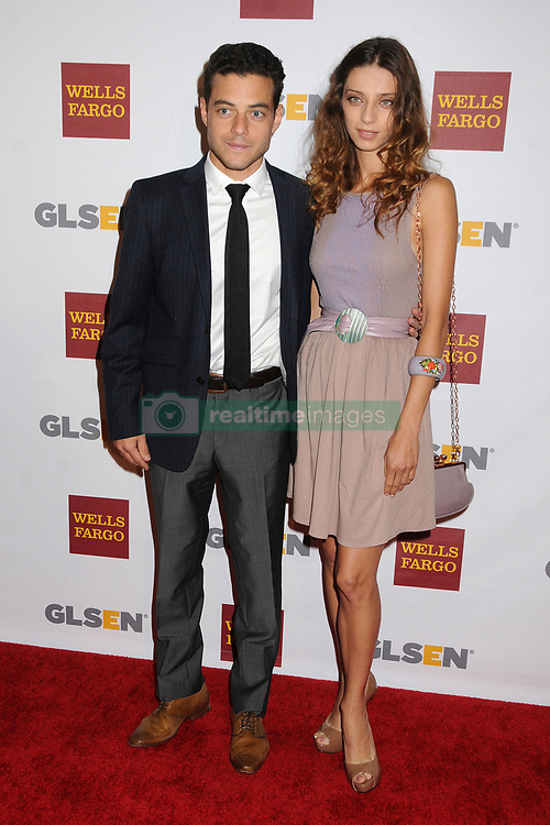 5 October 2012 - Beverly Hills, California - Rami Malek, Angela Sarafyan. 8th Annual GLSEN Respect Awards held at The Beverly Hills Hotel. Photo Credit: Byron Purvis/AdMedia/Sipa USA