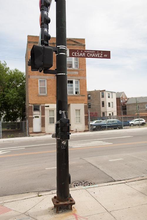 Street views taken on W. 18th St., Chicago, Illinois.