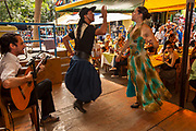Traditional dancing, steertside cafe, La Boca, Buenos Aires, Argentina.