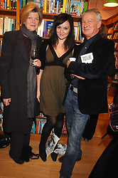 Left to right, the MARCHIONESS OF SALISBURY, RACHEL STIRLING and JOHN STIRLING at a party to celebrate the publication of 'The Umbrella of Faith' by Willie Stirling held at the Daunt Bookshop, Holland Park Road, London W11 on 27th November 2007.<br /><br />NON EXCLUSIVE - WORLD RIGHTS
