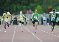 21 Aug 2016:  Boys U14 100m Final. 2016 Community Games National Festival 2016.  Athlone Institute of Technology, Athlone, Co. Westmeath. Picture: Caroline Quinn