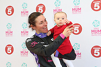 Sarah Storey & daughter Louise Marie; Celebrity Mum of the Year, Tesco Mum of the Year Awards, The Savoy Hotel, London UK, 23 March 2014, Photo by Richard Goldschmidt