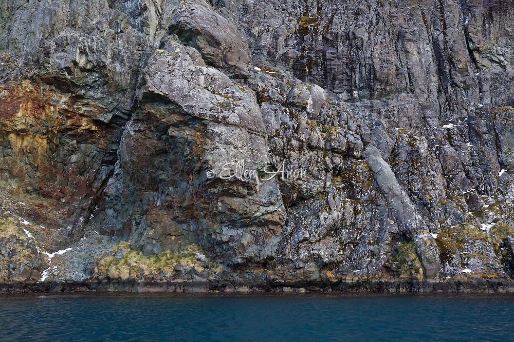cliff minerals, South Georgia Island